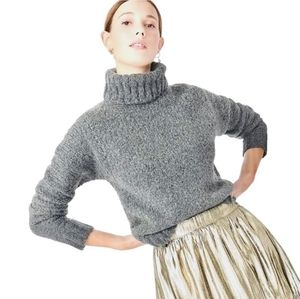 J. Crew Gray Lambswool Turtleneck Sweater Size M